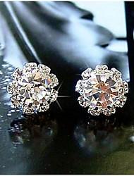 cheap -Bohemia Vintage Wholesale Women Simple Flower Zircon Stud Earring