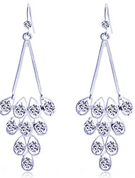 cheap -Women's Crystal Drop Earrings Crystal Silver Plated Gold Plated Earrings Jewelry Silver / Golden For Party Daily Casual
