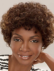 cheap -Synthetic Wig Curly Curly Wig Short Brown Synthetic Hair Women's African American Wig Brown
