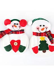 Недорогие -2шт снеговик Рождество Рождество столовое серебро посуда держатель ужин декор столовые приборы (случайный цвет)
