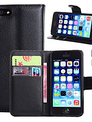 cheap -Case For Apple iPhone 7 Plus / iPhone 7 / iPhone 6s Plus Wallet / Card Holder / with Stand Full Body Cases Solid Colored Hard PU Leather