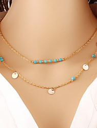 cheap -Women's Chain Necklace Alloy Golden Necklace Jewelry For Wedding Party Daily Casual