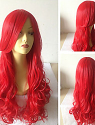 cheap -cosplay beautiful red sythetic wave wigs hair extensions girls lovely Halloween
