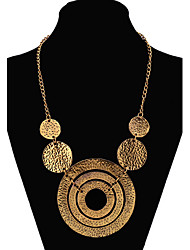 cheap -Women's Statement Necklace Long Necklace Statement Ladies European Fashion Alloy Screen Color Gold Necklace Jewelry For