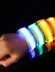 cheap -Reflective Band / LED Running Armband Safety / High Visibility Nylon for Camping / Hiking / Caving / Running / Cycling / Bike Red / Blue / Yellow Battery