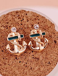 cheap -Women's Stud Earrings Drop Earrings Anchor Ladies Personalized Fashion Gold Plated Earrings Jewelry Golden For Party Daily Casual
