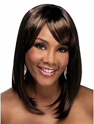 cheap -Synthetic Wig Straight Straight Bob With Bangs Wig Ombre Medium Length Rainbow Synthetic Hair Women's Ombre