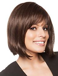 cheap -Human Hair Blend Wig Straight Short Hairstyles 2020 Straight Capless Dark Brown / Dark Auburn Beige Blonde / Bleach Blonde Auburn Brown / Bleach Blonde