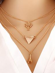 Недорогие -Жен. Слоистые ожерелья Эйфелева башня Дамы Мода Золотой Ожерелье Бижутерия Назначение Повседневные