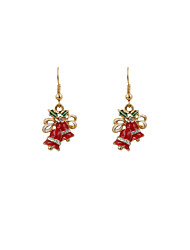 cheap -Women's Drop Earrings Ladies Rhinestone Earrings Jewelry White / Red For Party Daily Casual