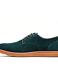 cheap -Men's Leather Shoes Suede Spring / Fall Oxfords Slip Resistant Black / Brown / Yellow / Wedding / Party & Evening / Athletic / Lace-up / Party & Evening