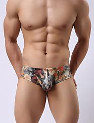 cheap -Men's Print Super Sexy Briefs Underwear Floral 1 Piece Blue Pink M L XL