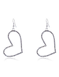 cheap -Women's Crystal Drop Earrings Heart Crystal Silver Plated Earrings Jewelry Silver For Party Daily Casual