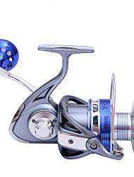 cheap -Fishing Reel Spinning Reel 5.5:1 Gear Ratio+9 Ball Bearings Hand Orientation Exchangable Sea Fishing / Spinning / Jigging Fishing - TA5000 / Freshwater Fishing / Bass Fishing / General Fishing