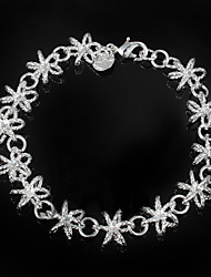 cheap -Women's Chain Bracelet Brooches Sterling Silver Bracelet Jewelry Silver For Wedding Party Daily Casual