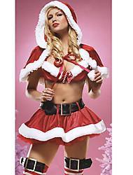 cheap -Sweet Polyester Sexy Women's Christmas Costume(Top+Skirt+Hat+Belt)
