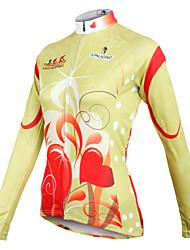 Недорогие -ILPALADINO Жен. Длинный рукав Велокофты Зима Светло-желтый В полоску Большие размеры Велоспорт Джерси Верхняя часть Горные велосипеды Шоссейные велосипеды Дышащий Быстровысыхающий Виды спорта Одежда