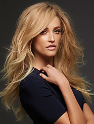 cheap -new fashion high quality flax gold long natural volume synthetic wigs hot sale