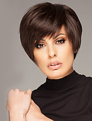cheap -Human Hair Wig Straight Short Hairstyles 2020 Straight Capless Dark Brown / Dark Auburn Strawberry Blonde / Bleach Blonde Beige Blonde / Bleach Blonde