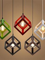 Недорогие -23 cm Мини Подвесные лампы Металл геометрический Ретро 110-120Вольт / 220-240Вольт