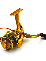 cheap -Golden Color Spinning Reels 5.5:1   10Ball Bearings Exchangable handle Sea Fishing/Spinning GSG3000