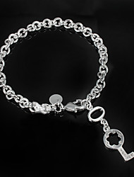 cheap -Women's Cubic Zirconia Chain Bracelet Sterling Silver Bracelet Jewelry Silver For Wedding Party Daily Casual