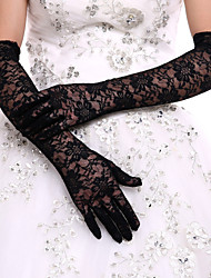 cheap -Lace / Polyester Opera Length Glove Classical / Bridal Gloves / Party / Evening Gloves With Solid