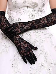 Недорогие -Кружева / Полиэстер До плеча Перчатка Классика / Свадебные перчатки / Вечерние перчатки С Однотонные