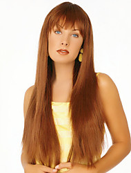 cheap -Human Hair Wig Straight Straight Capless Beige Blonde / Bleach Blonde Dark Brown Honney Blonde