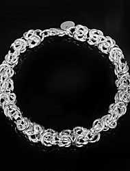 cheap -Women's Chain Bracelet Fashion Sterling Silver Bracelet Jewelry Silver For Christmas Gifts Wedding Party Daily Casual