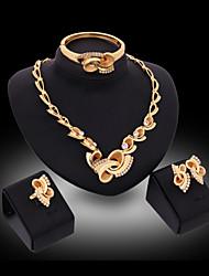 Недорогие -Серьги-гвоздики Ожерелья-бархатки Кольца для пары Винтаж Для вечеринки Кольцеобразный Серьги Бижутерия Цвет экрана Назначение 1 комплект