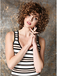 cheap -Synthetic Wig Curly Kinky Curly Kinky Curly Curly Wig Short Brown Synthetic Hair Women's Brown