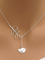 cheap -Women's Pendant Necklace Bird Leaf Animal Alloy Gold Silver Necklace Jewelry For