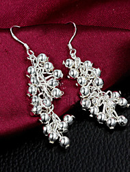 cheap -Women's Drop Earrings Sterling Silver Silver Plated Earrings Jewelry Silver For Wedding Party Daily Casual