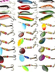 cheap -30 pcs Fishing Lures Hard Bait Spoons Metal Bait Fast Sinking Bass Trout Pike Sea Fishing Bait Casting Carp Fishing Hard Plastic / Lure Fishing / General Fishing / Trolling & Boat Fishing