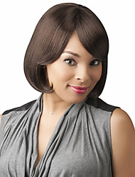 cheap -Human Hair Wig Straight Short Hairstyles 2019 Straight Capless Dark Brown / Dark Auburn Beige Blonde / Bleach Blonde Auburn Brown / Bleach Blonde