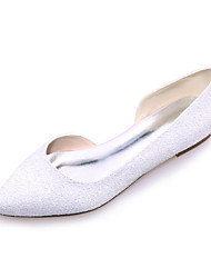 cheap -Women's Flat Heel Glitter Spring / Summer White / Ivory / Wedding / Party & Evening / EU42