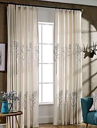 abordables -les rideaux écologiques faits sur commande drapent deux panneaux pour la chambre à coucher