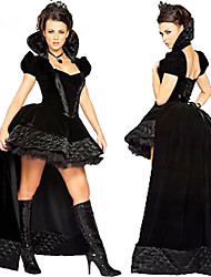 cheap -Black Queen Dress Women's Christmas Halloween Festival / Holiday Terylene Black Women's Carnival Costumes / Skirt / Headwear / Skirt / Headwear