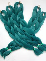 "cheap -1Pc/Lot 24"" 80G Dark Green Color Kanekalon Senegalese Twists Xpression Synthetic Jumbo Box Braiding Hair"
