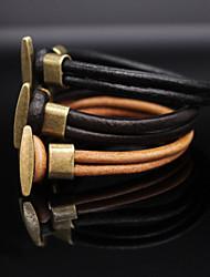 cheap -Women's Leather Bracelet - Vintage, Casual, Fashion Bracelet Black / Brown / Light Brown For Daily