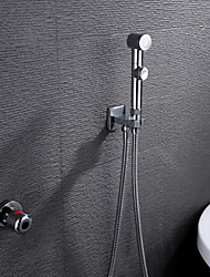 cheap -Shower Faucet - Contemporary Chrome Brass Valve Bath Shower Mixer Taps / Single Handle Two Holes