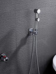 cheap -Shower Faucet - Contemporary Chrome Brass Valve Bath Shower Mixer Taps / Single Handle Two Holes