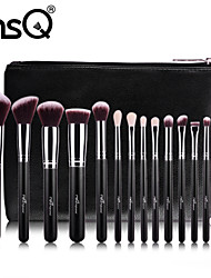 cheap -15 Piece Makeup Brushes Set Premium Synthetic Goat Hairs Brushes Foundation Blending Blush Face Eyeliner Shadow Brow Concealer Lip Cosmetic Brushes Kit with Cosmetic Bag