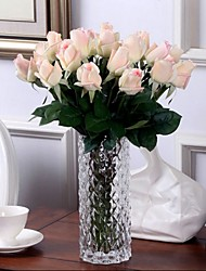 cheap -10 Branch Europe Style Single PU Lifelike Rose Home Furnishing True  Feel Artificial Flowers