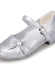 cheap -Girls' Leatherette Heels Bowknot Pink / Silver Spring & Summer