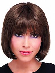 cheap -Human Hair Wig Straight Short Hairstyles 2019 Straight Capless Dark Brown / Dark Auburn Beige Blonde / Bleach Blonde Auburn Brown / Bleach Blonde