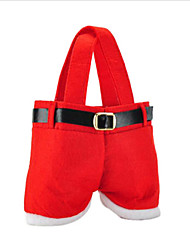 Недорогие -горячей продажи моды Рождество Санта брюки эльф конфеты дух сумки украшения Xmas мешок милый ребенок подарок мягкую ткань красные