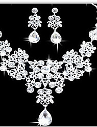 cheap -Lucky Doll Women's All Matching Silver Plated Necklace & Earrings Jewelry Sets