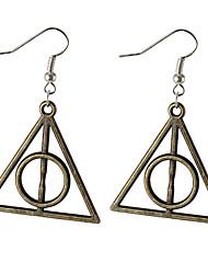 cheap -Drop Earrings Dangle Earrings Alloy Triangle Shape Silver Brown Jewelry For Daily 2pcs